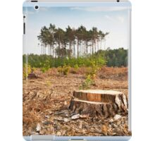 Woods lone trunk in deforestation iPad Case/Skin