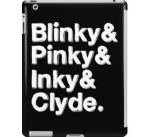 Blinky & Pinky & Inky & Clyde - Pacman White iPad Case/Skin
