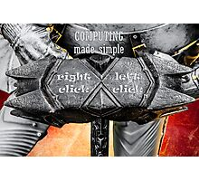 Medieval knight - Computing Made Simple Photographic Print