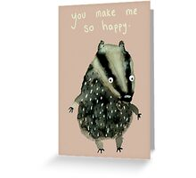 Happy Badger Greeting Card