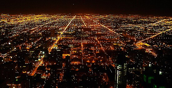 CHICAGO night view by Ghelly