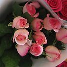 Pink Roses bunch by Marilyn Baldey