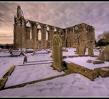 Bolton Abbey in the snow by Shaun Whiteman
