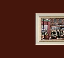 """""""Burrville Antiques"""" ... with a matted and framed presentation for prints and products by © Bob Hall"""