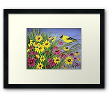 Bird in the garden Framed Print