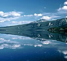 Reflection Kluane Lake - Yukon Territory by Harry Snowden