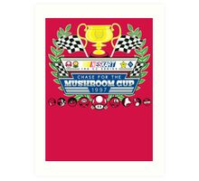 Chase for the Mushroom Cup Art Print