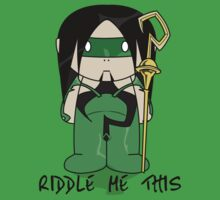 Riddler - MiniFolk T-Shirt by dangerliam
