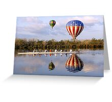 Floating And Rowing Greeting Card