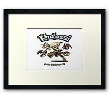 Khalessi - Gotta catch em' all - Game of Thrones Pokemon crossover Framed Print