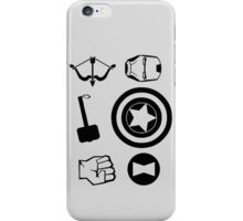 The Avengers - Cool Nerd Symbol Minimal  iPhone Case/Skin