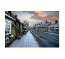 Village Snow Art Print