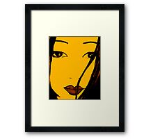 Seduction of the eyes Framed Print