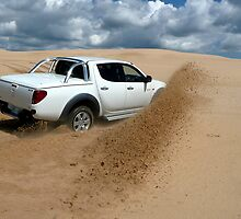 playing in the sand by Overlander4WD