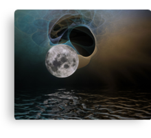 our wonderful moon Canvas Print