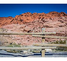 Red Rock Fence Photographic Print