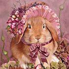 Bunny In Easter Bonnet by Carol  Cavalaris