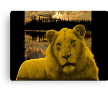 Yellow lion Justin Beck Picture 2015090 Canvas Print