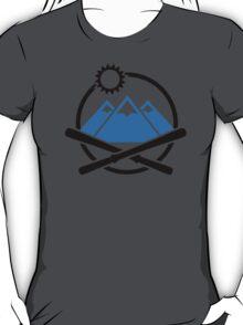 Crossed ski mountains T-Shirt