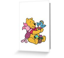 Pooh and Piglet at Easter Greeting Card