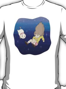 Bee and PuppyCat Falling Print T-Shirt