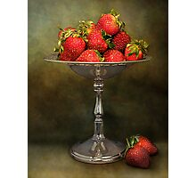 Strawberries On A Pedestal Photographic Print