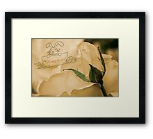 Roses for Easter Framed Print