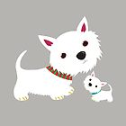 Westie & pup (grey) by BonniePortraits