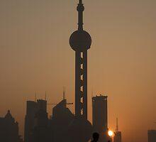 Sunrise Tai Chi (Tai Ji Quan) on Shanghai's Bund by Mark Bolton