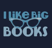 I LIKE BIG BOOKS in blue with cute eye glasses Kids Clothes