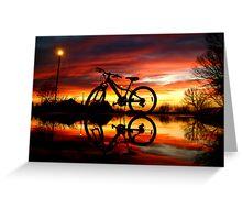 Ride 'Til the Sun Sets Greeting Card