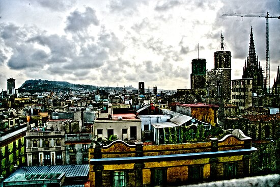 Barcelona rooftops by Paul Thompson Photography