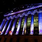 Purple New York Stock Exchange at Night - Impressions Of Manhattan by Georgia Mizuleva