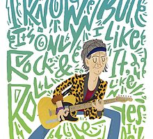 Guitar Heroes - Keith Ricahrds by jimmyrogers