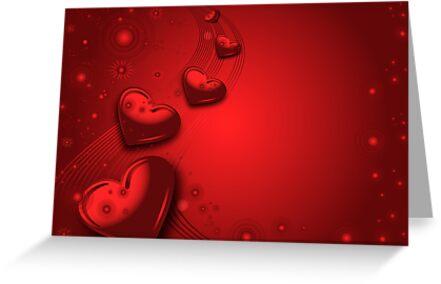 Red valentines card by Olga Altunina