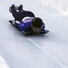 Skeleton Racing Park City, Utah 2014 U.S. Olympic Skeleton Racer Katie Uhlaender by Judson Joyce