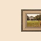 """""""Bales along the Tree Line"""" ...with a matted and framed look for prints and products  by © Bob Hall"""