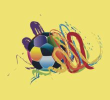 Soccer Ball with Brush Strokes 2 Kids Clothes