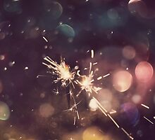 Sparkler and Colorful Bokeh 6 by AnnArtshock