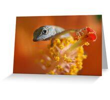 Lizard Babe Greeting Card