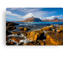 The Cuillins from Elgol, Isle of Skye, Scotland. Canvas Print