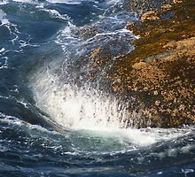 Crashing Waves at Cape Flattery by Laurel Talabere