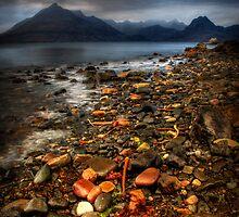 On the shore at Elgol, Loch Scavaig. Isle of Skye, Scotland by photosecosse /barbara jones
