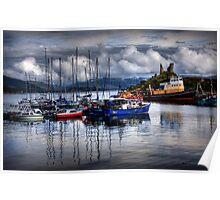 Harbour at Kyleakin, Loch Alsh, Isle of Skye. Scotland. Poster