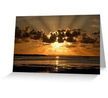 Instow sun rays Greeting Card