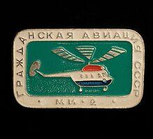Soviet badge  helicopter MI 2 by mrivserg