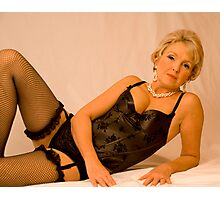 Fishnets And Pearls Photographic Print