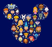 Disney - All Charachters Nerd Collection  by markomellark