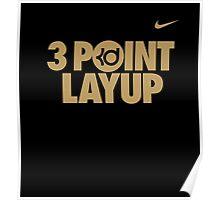 3 Point Layup Poster