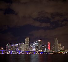 Miami at night by fotomak